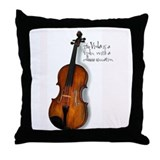 The Glorious Viola Throw Pillow