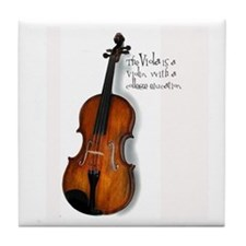 The Glorious Viola Tile Coaster