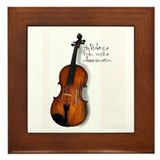 The Glorious Viola Framed Tile