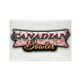 Canadian Bowler Rectangle Magnet