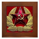 Soviet Union Red Star Framed Tile