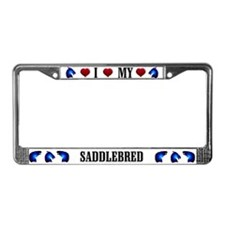 Saddlebred License Plate Frame