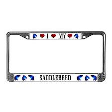 Saddlebred License Plate Frame