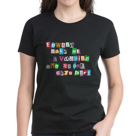 Edward Bite Me Twilight Women's Dark T-Shirt