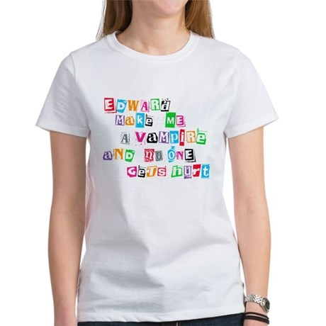Edward Bite Me Twilight Women's T-Shirt