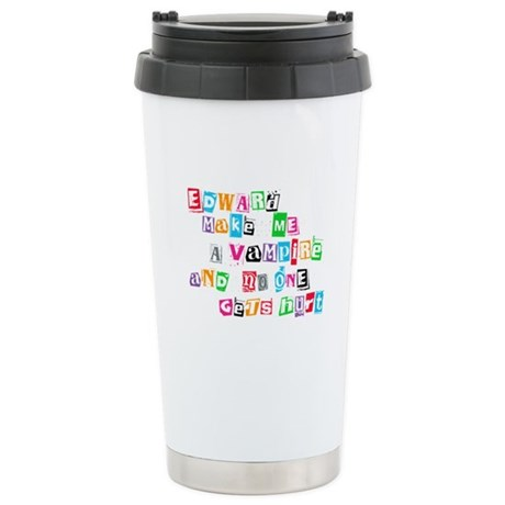 Edward Bite Me Twilight Ceramic Travel Mug