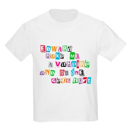 Edward Bite Me Twilight Kids Light T-Shirt