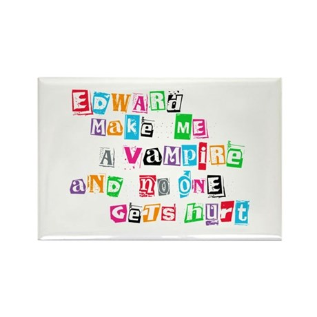 Edward Bite Me Twilight Rectangle Magnet