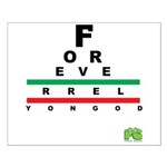 FROG eyechart Small Poster