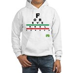 FROG eyechart Hooded Sweatshirt