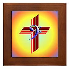 Clef and Cross Framed Tile