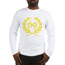 Golden Laurel Wreath 69 Long Sleeve T-Shirt
