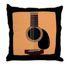 acoustic guitar Throw Pillow