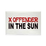 X OFFENDER Rectangle Magnet (100 pack)
