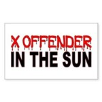 X OFFENDER Rectangle Sticker