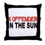 X OFFENDER Throw Pillow