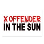 X OFFENDER In The SUN Postcards (Package of 8)