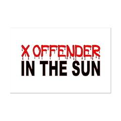X OFFENDER Mini Poster Print