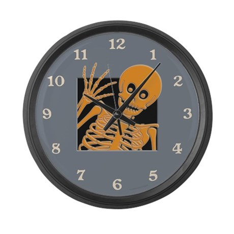 Grinning Skeleton Large Wall Clock