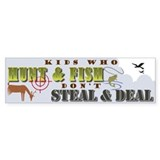 Kids Who Hunt... Bumper Car Sticker