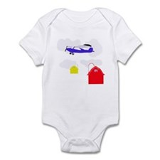 Cartoon Airplane Onesie Infant Bodysui