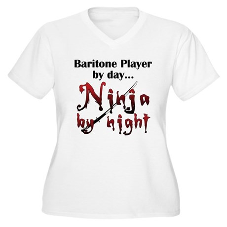 Baritone Ninja Women's Plus Size V-Neck T-Shirt