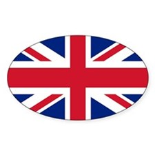 Great Britian Union Jack Oval Decal