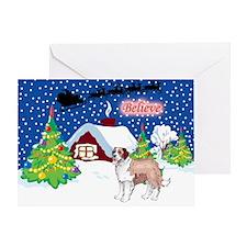 Believe St Bernard Greeting Card