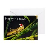 Grasshopper Santa Greeting Cards (Pk of 10)