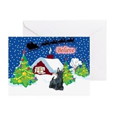 Believe Scottie Greeting Cards (Pk of 20)