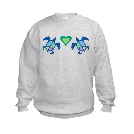 Peace Heart Sea Turtles Kids Sweatshirt