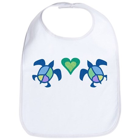 Peace Heart Sea Turtles Bib