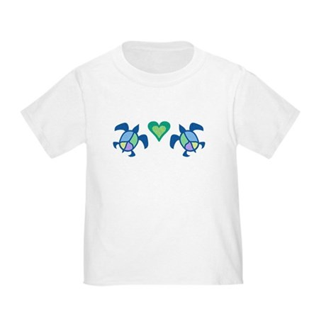 Peace Heart Sea Turtles Toddler T-Shirt