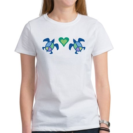 Peace Heart Sea Turtles Women's T-Shirt