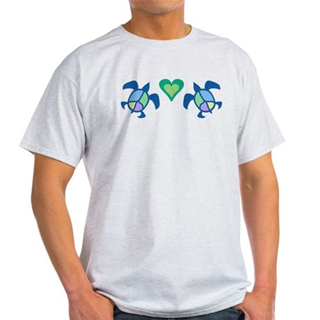 Peace Heart Sea Turtles Light T-Shirt