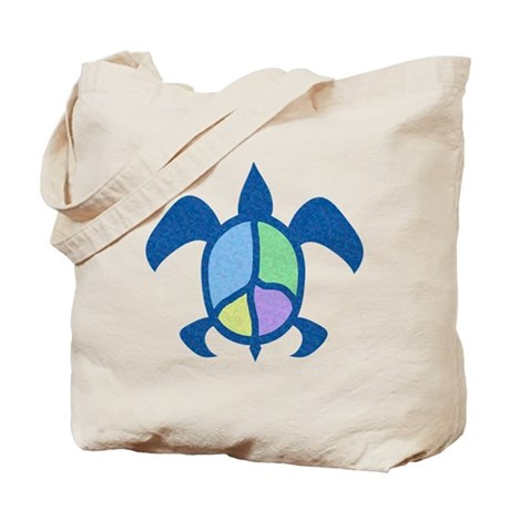 Peace Sea Turtle Tote Bag