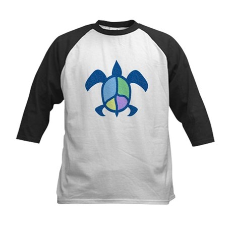 Peace Sea Turtle Kids Baseball Jersey