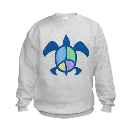 Peace Sea Turtle Kids Sweatshirt