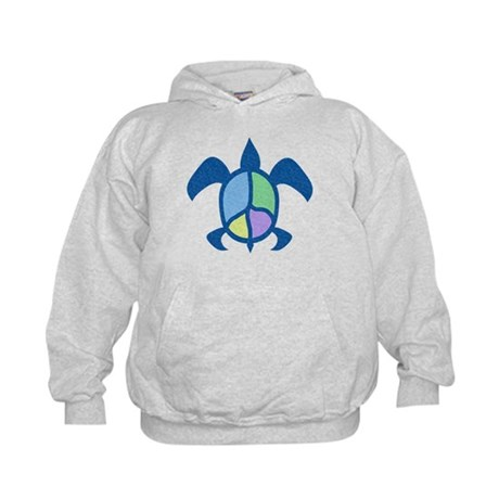 Peace Sea Turtle Kids Hoodie