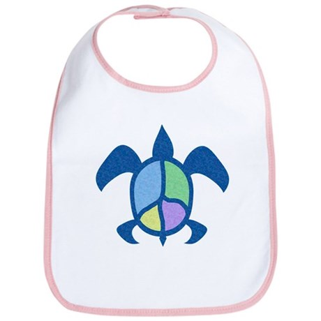 Peace Sea Turtle Bib