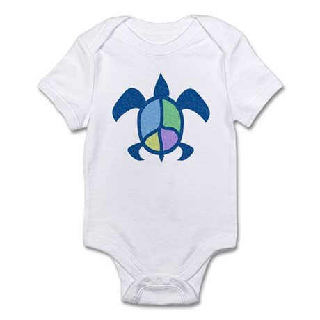 Peace Sea Turtle Infant Bodysuit