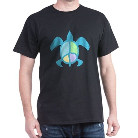Peace Sea Turtle Dark T-Shirt