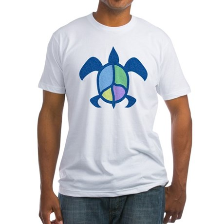 Peace Sea Turtle Fitted T-Shirt