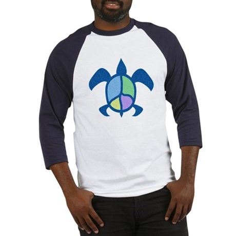 Peace Sea Turtle Baseball Jersey