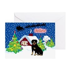 Believe Rottweiler Greeting Card