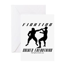 Fighting Solves Everything w/ Greeting Card