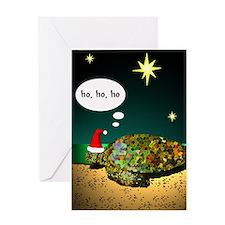 Sea Turtle Santa Greeting Card