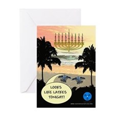 Sea Turtle Chanukah Greeting Card
