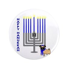 "Happy Hanukkah! 3.5"" Button (100 pack)"