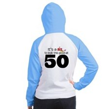 Look Good 50 Birthday Women's Raglan Hoodie